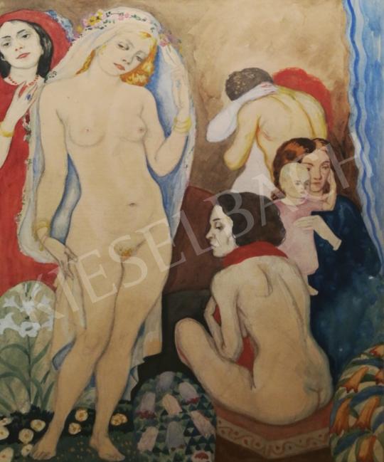 Eladó Ismeretlen festő - Fiatal szépség festménye