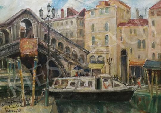 Eladó Udvary Pál - Velence, Rialto híd festménye