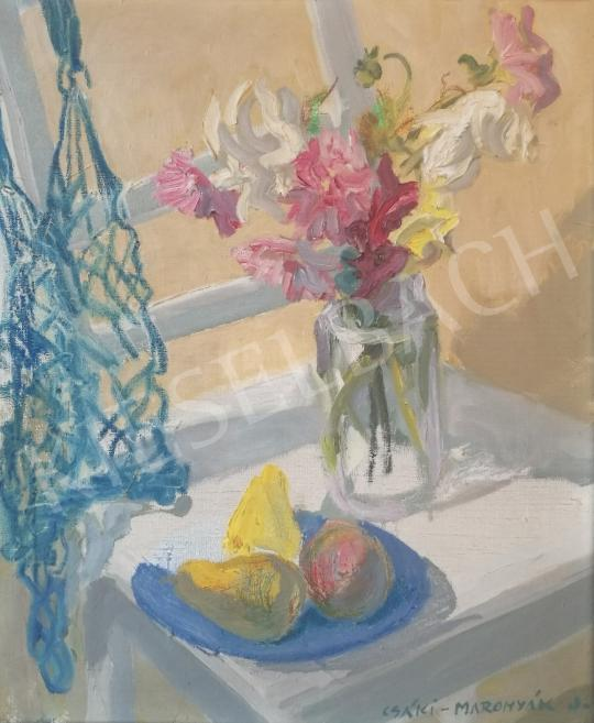 Eladó  Csáki-Maronyák József - Napfényes asztali csendélet festménye