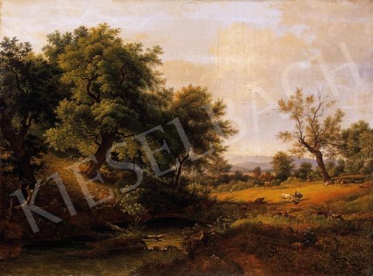 Ismeretlen osztrák festő, 1835 körül - Szerelmespár a tisztáson | 6. Aukció aukció / 21 tétel