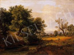 Ismeretlen osztrák festő, 1835 körül - Szerelmespár a tisztáson