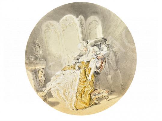 Zichy Mihály - Udvarlás (Meghitt pillanat), 1855 | 63. Téli Aukció aukció / 22 tétel