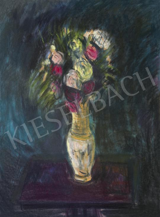 Eladó  Bernáth Aurél - Műtermi csendélet (Rózsacsokor) festménye