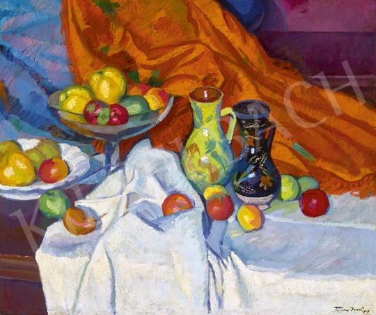 Eladó  Tipary Dezső - Csendélet gyümölcsöstállal, 1919 festménye
