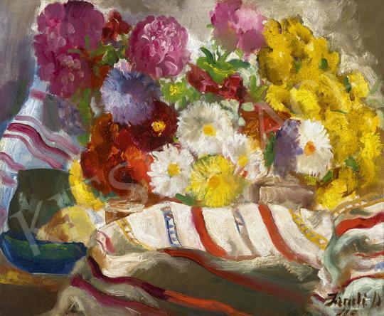 Eladó  Jándi Dávid - Nagybányai műtermi csendélet festménye
