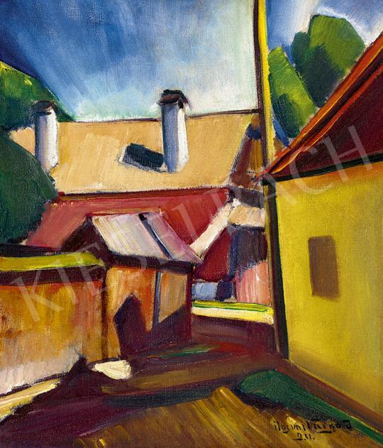 Eladó  Ilosvai Varga István - Nagybányai utca (Konstruktív táj), 1931 festménye
