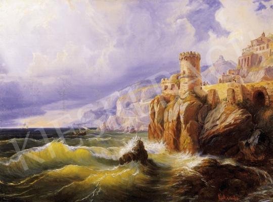 Agricola, Eduard - Olasz tengerpart várral | 6. Aukció aukció / 23 tétel