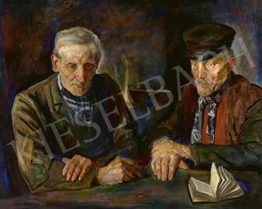 For sale  Harta, Felix Albrecht - Elder People in Bruges, 1910 's painting