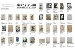 Chikán Bálint gyűjtemény - Önarckép gyűjtemény (151 db)