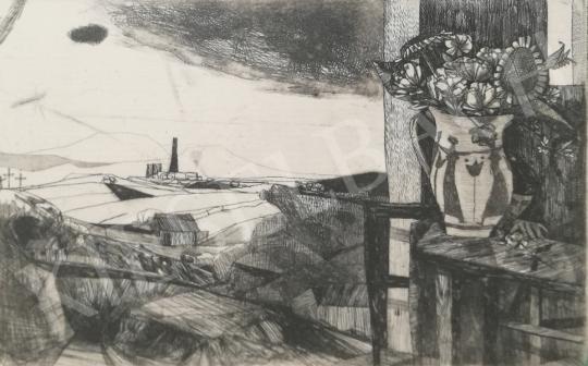 Eladó Kondor Béla - Műteremablak (Kilátás az ablakból) festménye