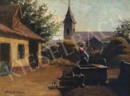 Kövér Gyula - Falusi udvar