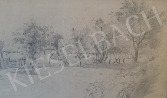 Eladó Telepy Károly - Falusi részlet festménye