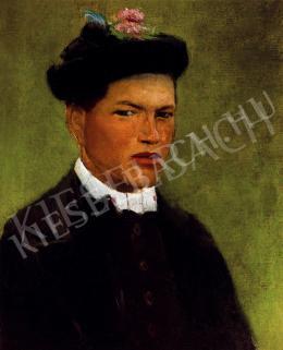 Mednyánszky László - Fehérgalléros fiú kalapban (Tót legény)