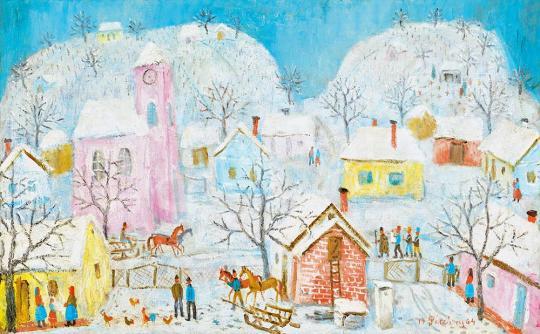 For sale Pekáry, István - Winter (Fairy Tale Landscape) 's painting