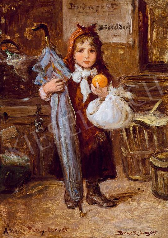 Eladó Bruck Lajos - Kislány naranccsal festménye