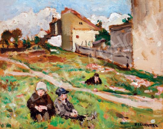 For sale  Perlmutter, Izsák - Children on the Hill-Side 's painting