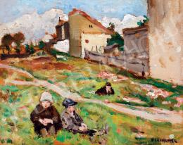 Perlmutter, Izsák - Children on the Hill-Side