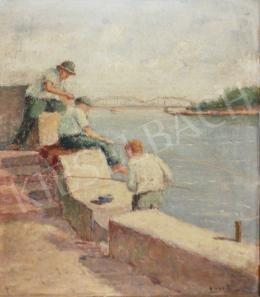 Guzsik, Ödön - Fishing Boys on the Quay of Szeged