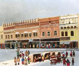 Nádasdi Sárközy, Elemér (Sárközy Elemér) - The Main Square in Eperjes (Rákóczi House) , 1937