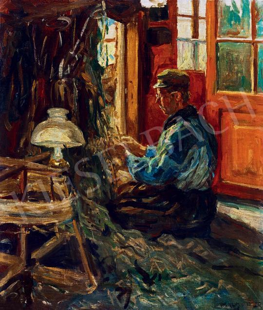 Eladó  Perlmutter Izsák - Férfi szobában festménye