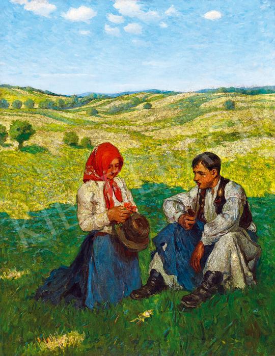 Eladó  Tull Ödön - Szerelmesek a szabadban (A bokréta) festménye