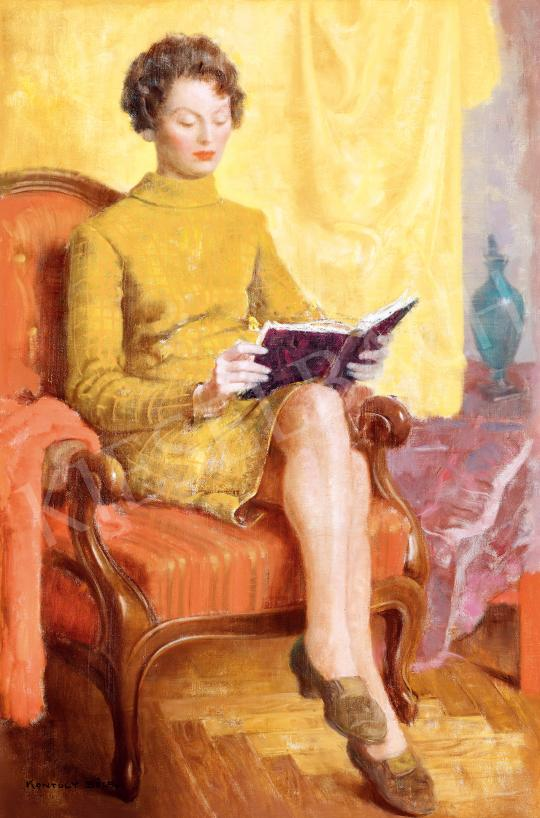 For sale  Kontuly, Béla - Reading Girl 's painting