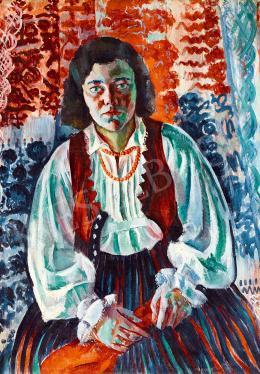 Mágori Varga Béla - A vörös kendő (Színes textilek)