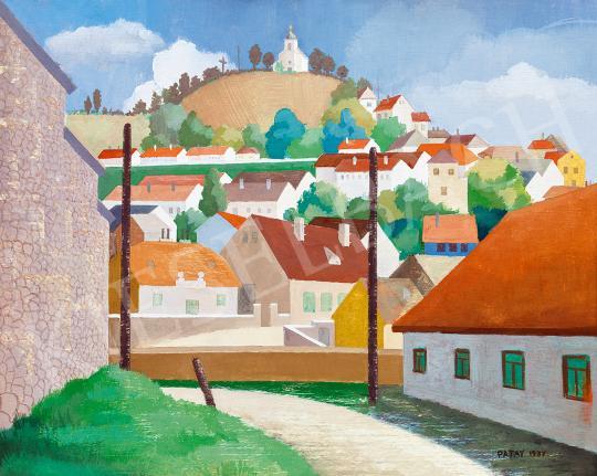 Eladó Patay Mihály - Kisváros a dombon festménye
