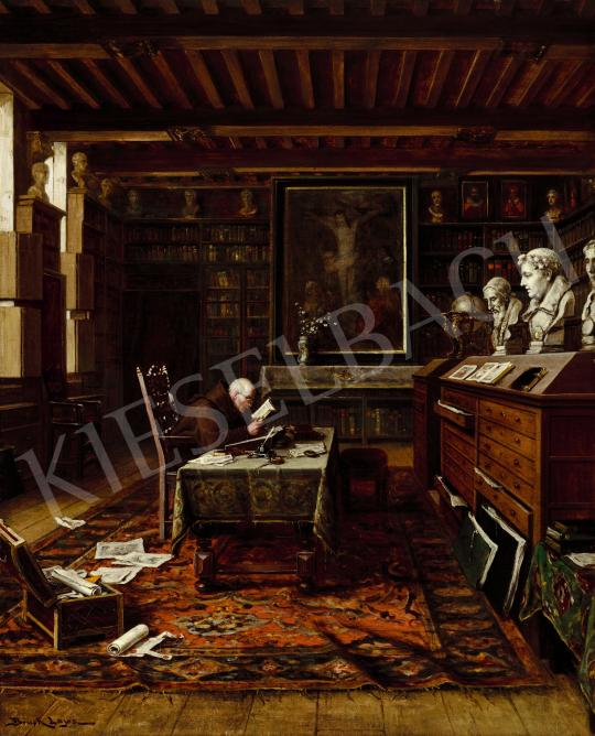 For sale Bruck, Lajos - In the Library of Anvers 's painting