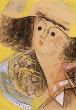 Scheiber Hugó - Lány kalapban | 6. Aukció aukció / 33 tétel