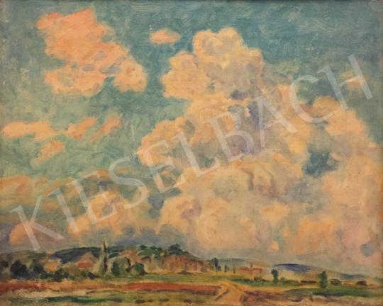 Eladó Ismeretlen festő - Gomolygó felhők festménye