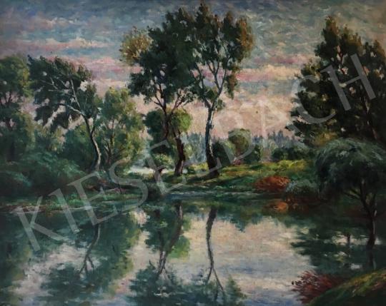Eladó Haranglábi Nemes József - Nyári folyópart, 1958 festménye