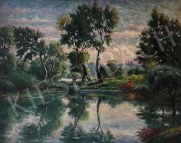 Haranglábi Nemes József - Nyári folyópart, 1958