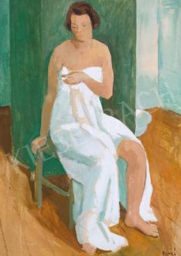 Patkó, Károly - Nude Cloaked in a White Cloth