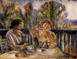 Kernstok, Károly - Tea at the Terrace