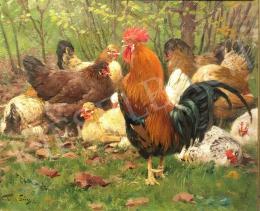 Vastagh Géza - Baromfiudvar, 1913