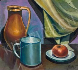 Patkó, Károly - Still Life with Apple and Jug (Reverse: Portrait of a Man)