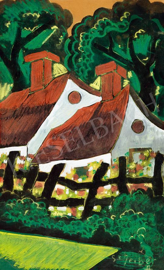 Eladó  Scheiber Hugó - Ház az erdő szélén festménye