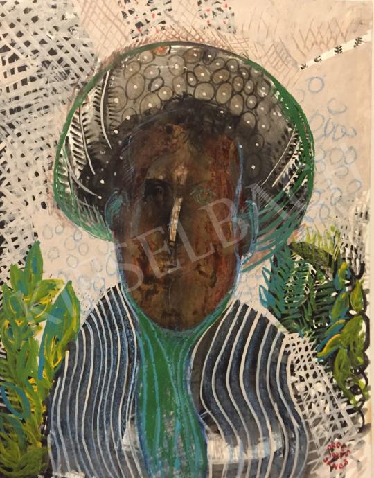 Orosz János - Arany fej, 1977 festménye