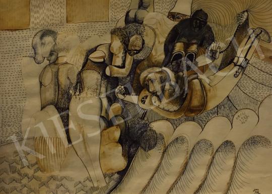 Eladó Orosz János - Sorsunk eldőlt, 1983 festménye