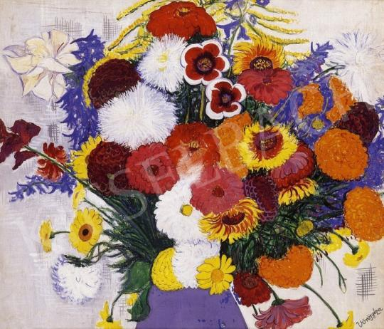Vörös Géza - Virágcsendélet | 6. Aukció aukció / 42 tétel