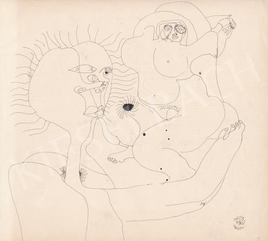 Eladó Orosz János - Az érintés, 1982 festménye