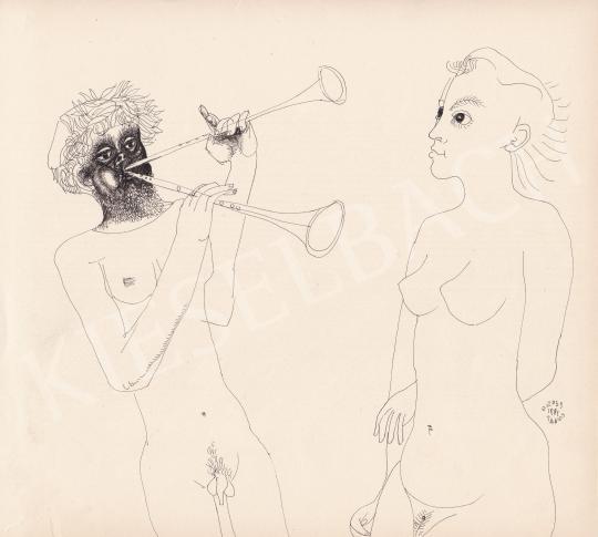 Eladó Orosz János - Szerenád, 1981 festménye