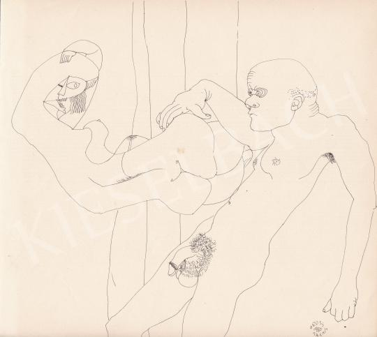 Eladó Orosz János - Lebegés, 1980 festménye