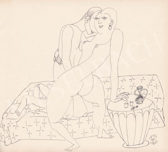For sale Orosz, János - Interlocking Shapes, 1981 's painting
