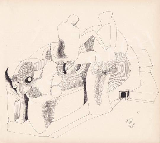 Eladó Orosz János - Absztrakt formavilág, 1981 festménye