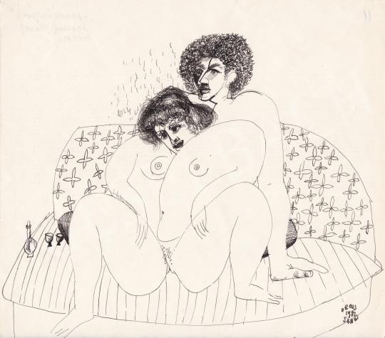 Eladó Orosz János - Végjáték, 1982 festménye