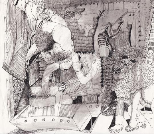 Eladó Orosz János - Álomvilág. 1980 festménye