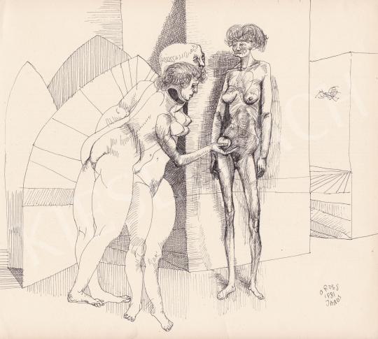 Eladó Orosz János - Megkisértés, 1981 festménye