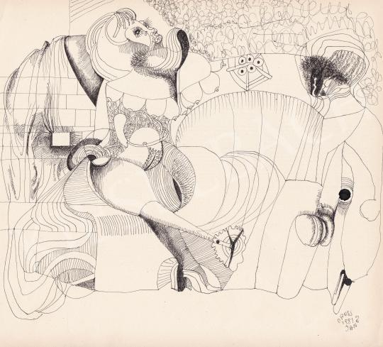 Eladó Orosz János - Mechanikus szerelem, 1981 festménye